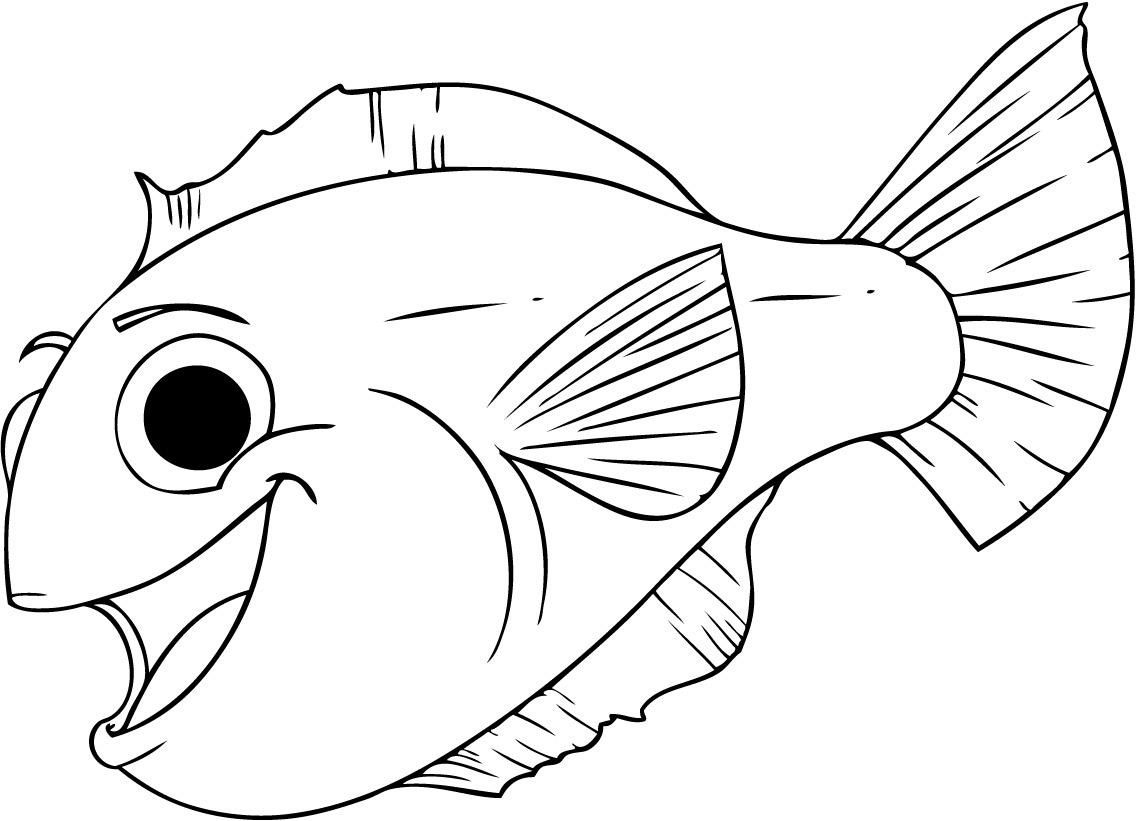 Free Printable Fish Coloring Pages For Kids | Tiger Cub | Pinterest - Free Printable Fish Coloring Pages