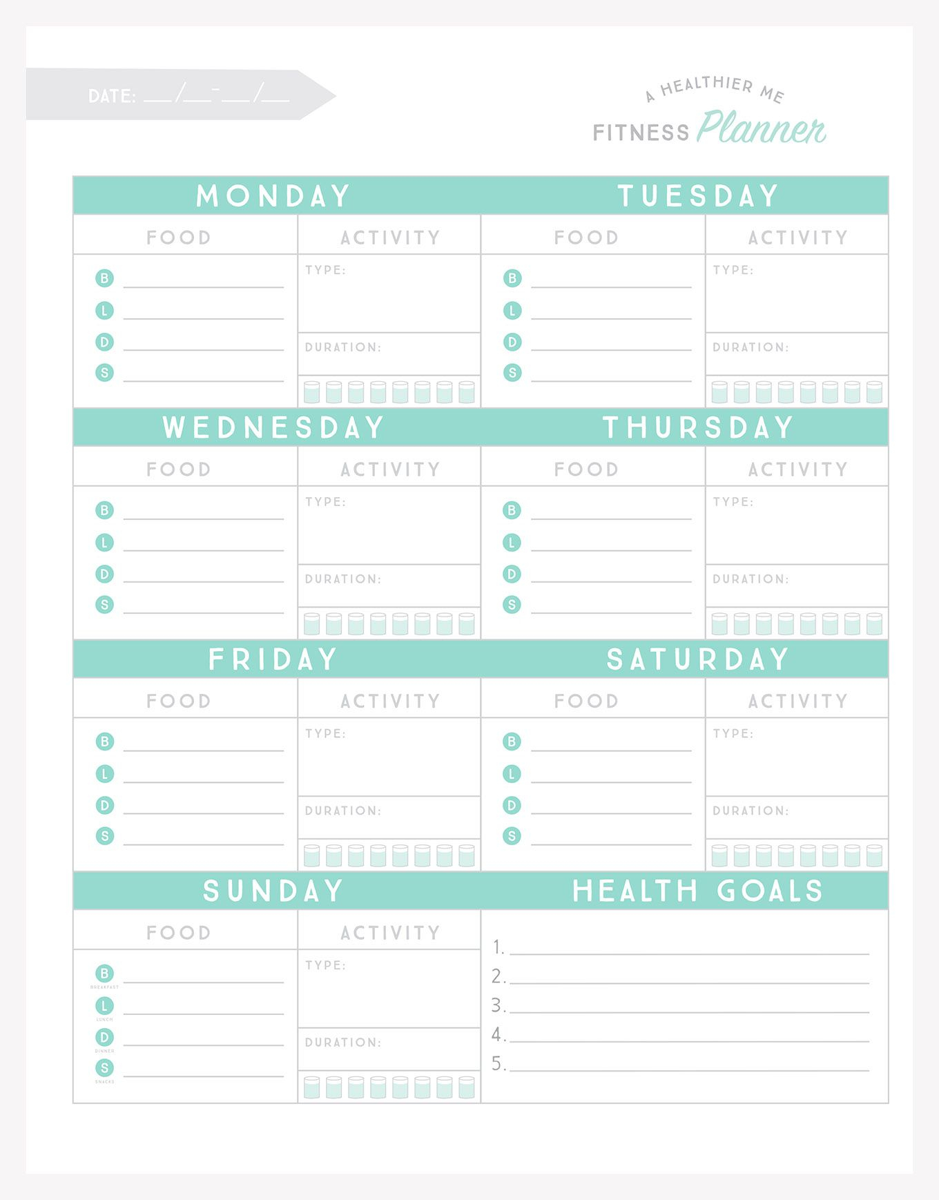 Free Printable Fitness Planner | All Time Favorite Printables - Free Printable Fitness Planner