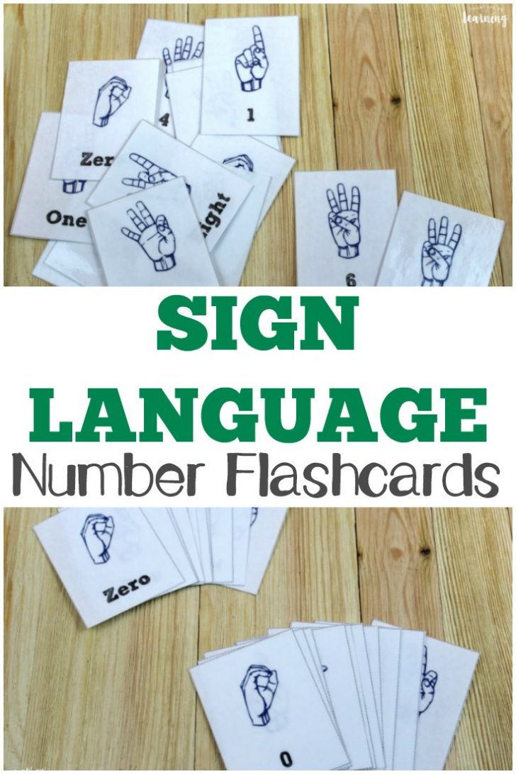 Sign Language Flash Cards Free Printable