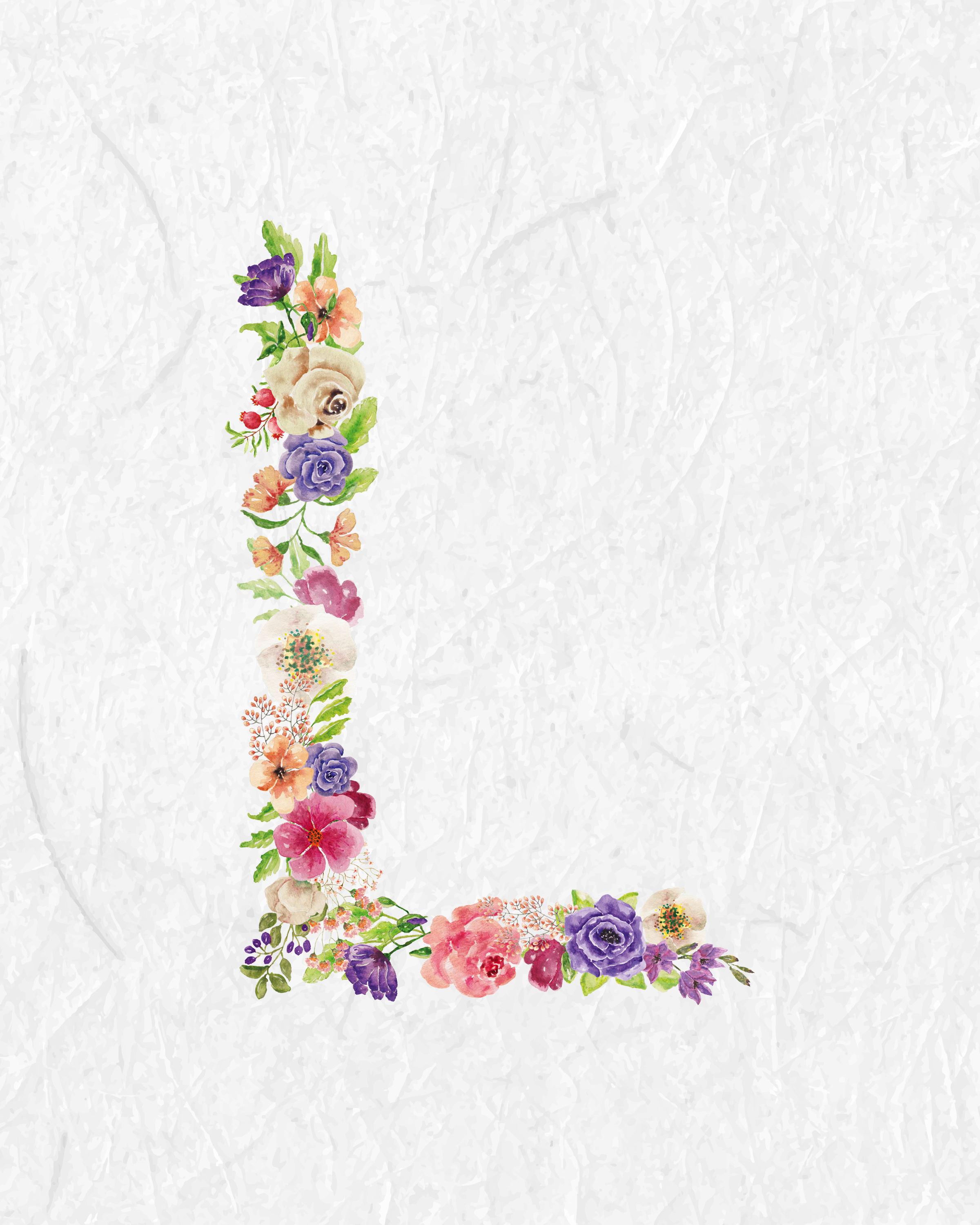 Free Printable Floral Monograms - The Cottage Market - Free Printable Flower Letters