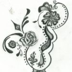 Free Printable Floral Tattoo Designs | Flower Henna Design Four   Free Printable Henna Tattoo Designs