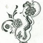 Free Printable Floral Tattoo Designs | Flower Henna Design Four   Free Printable Henna Tattoo Designs