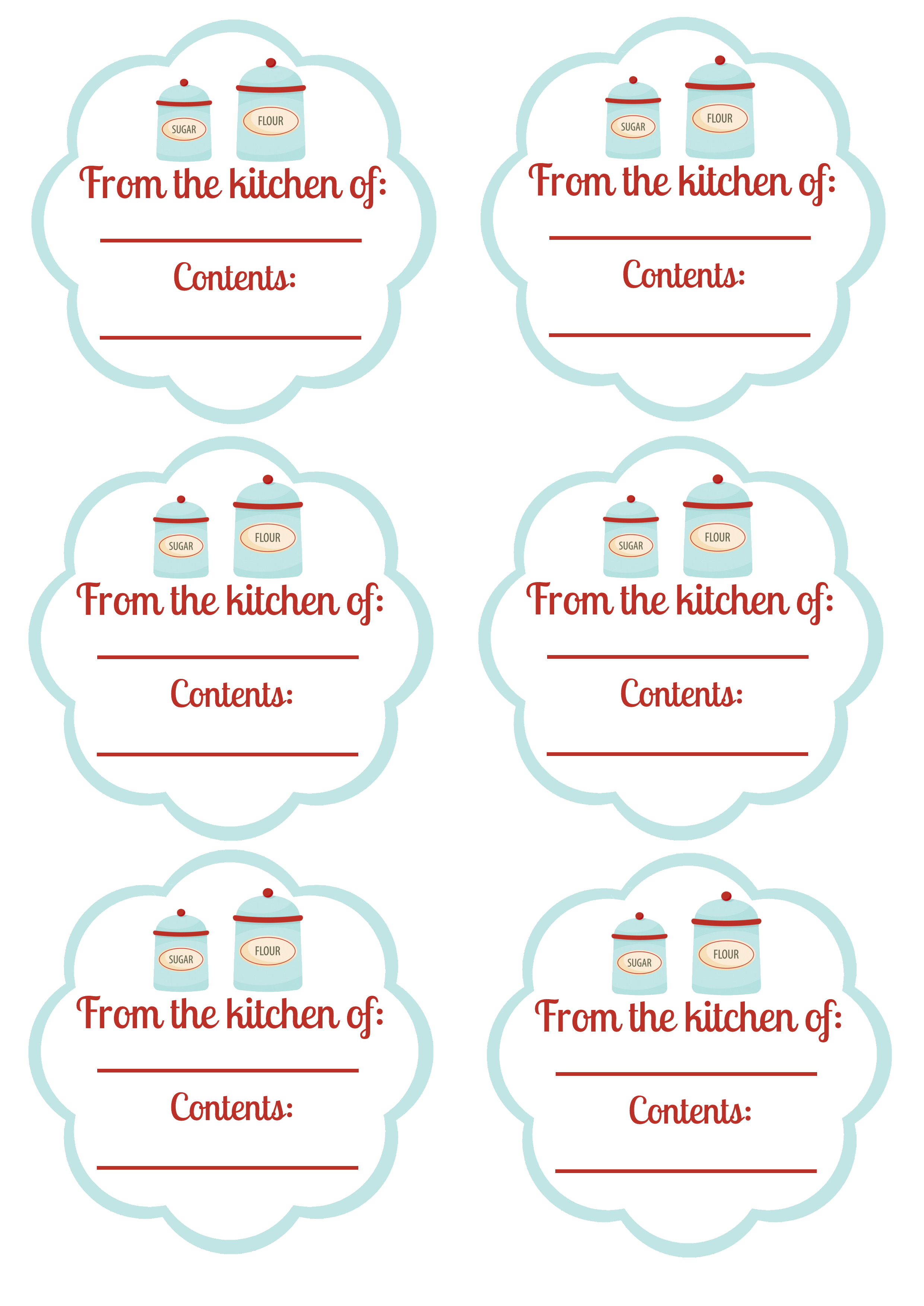 Free Printable - Food Labels And Canning Labels   Blissfully Domestic - Free Printable Food Labels