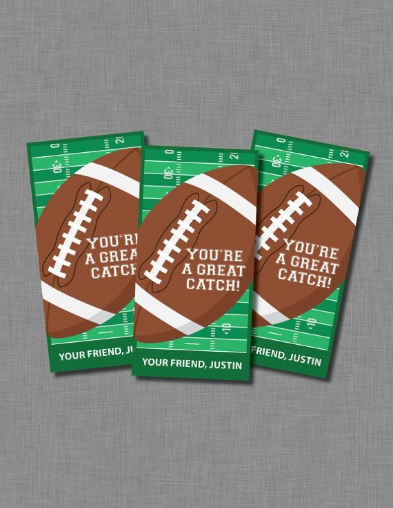 Free Printable Football Valentines Day Cards - About Valentine - Free Printable Football Valentines Day Cards