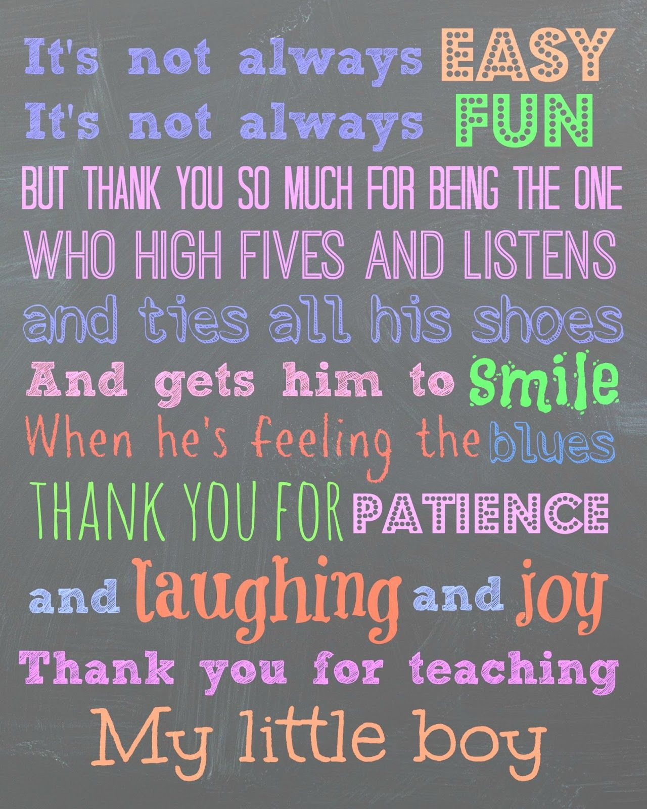 "Free Printable For A Teacher. ""to My Son's Teachers, Thank You"". I - Free Printable Teacher Appreciation Greeting Cards"
