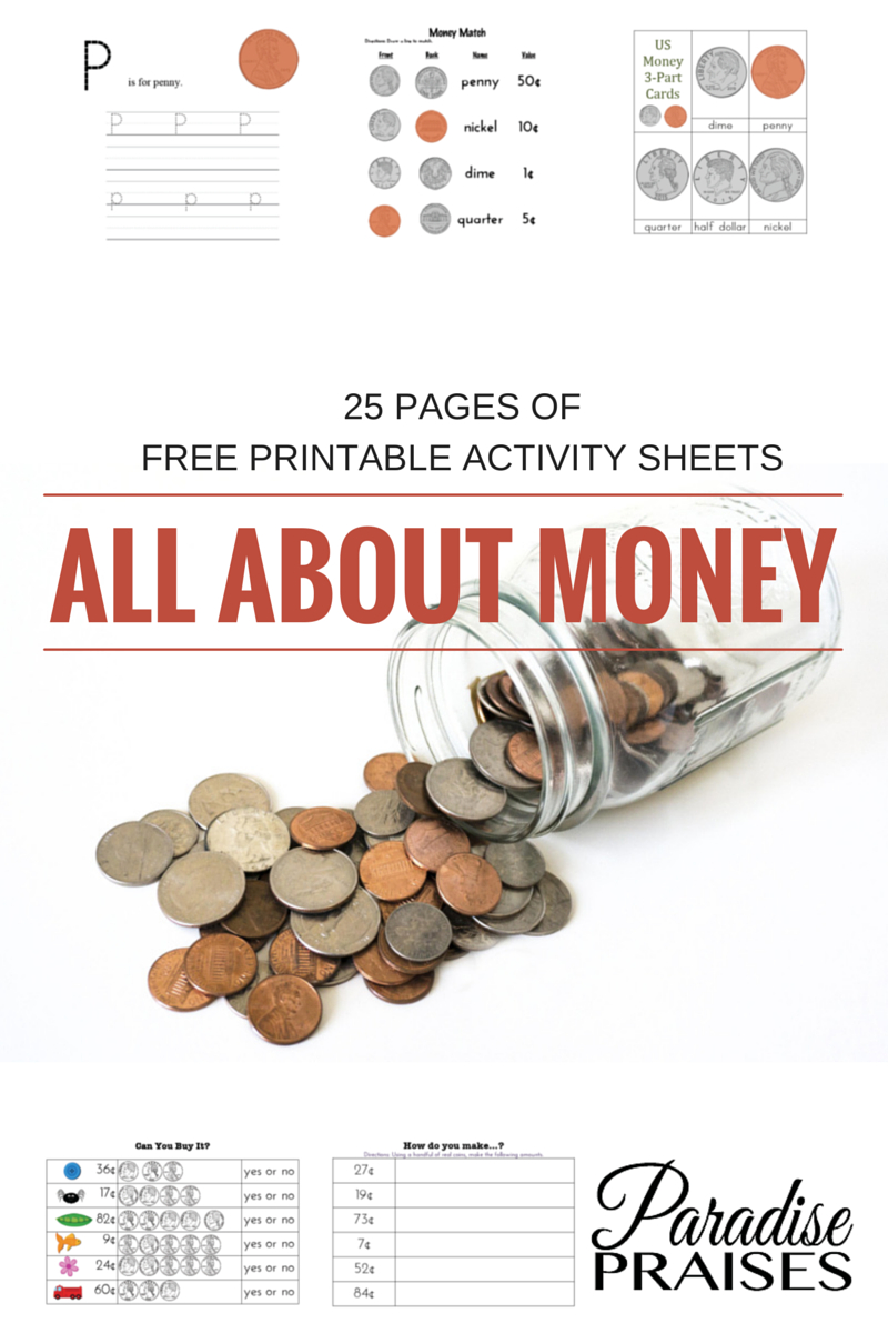 Free Printable For Lucky Penny Day - Homeschooling Paradise Free Printable Math Worksheets Third Grade