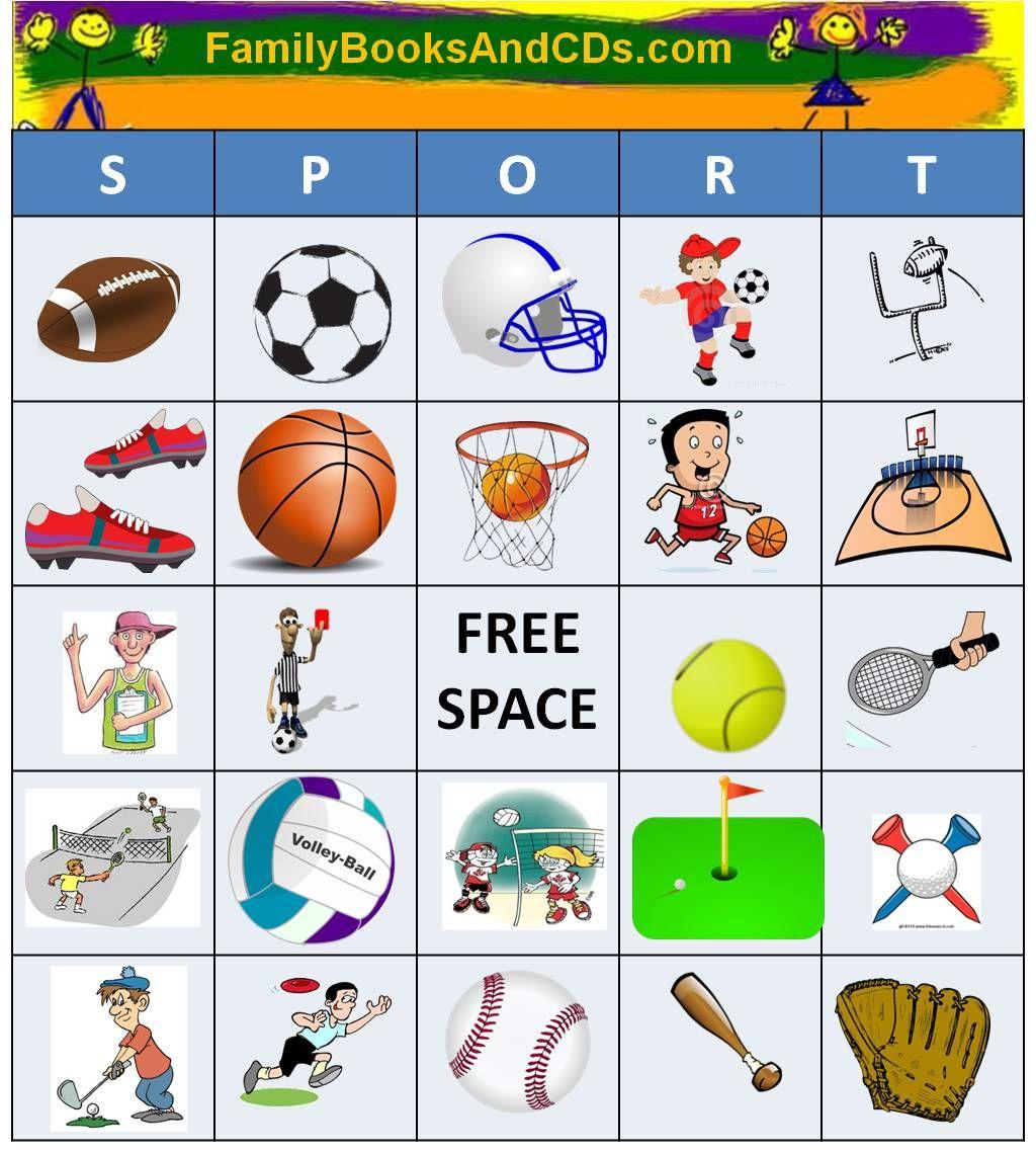Free Printable For Sport Bingo. Click Here To Print Pdf Game Sheets - Free Printable Memory Exercises