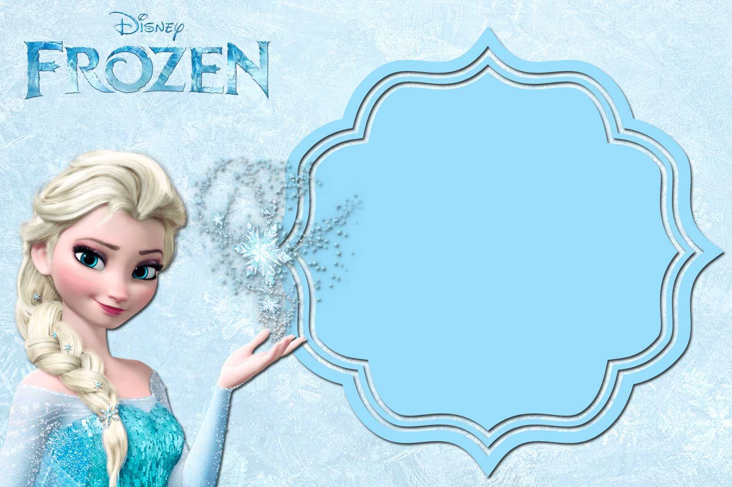 Free Printable Frozen Anna And Elsa Invitation - Free Printable Frozen Birthday Invitations