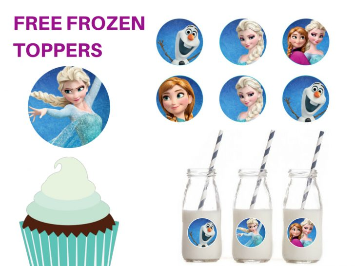 Frozen Cupcake Toppers Free Printable