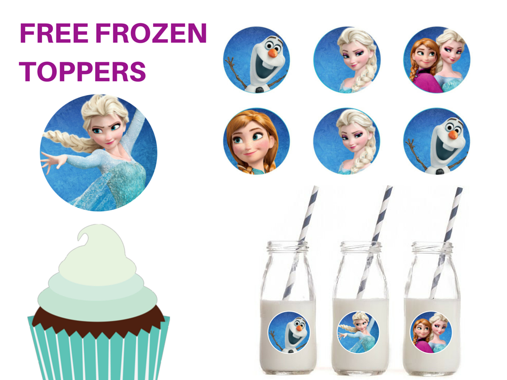 Free Printable Frozen Cupcake Circle Toppers - Magical Printable - Frozen Cupcake Toppers Free Printable