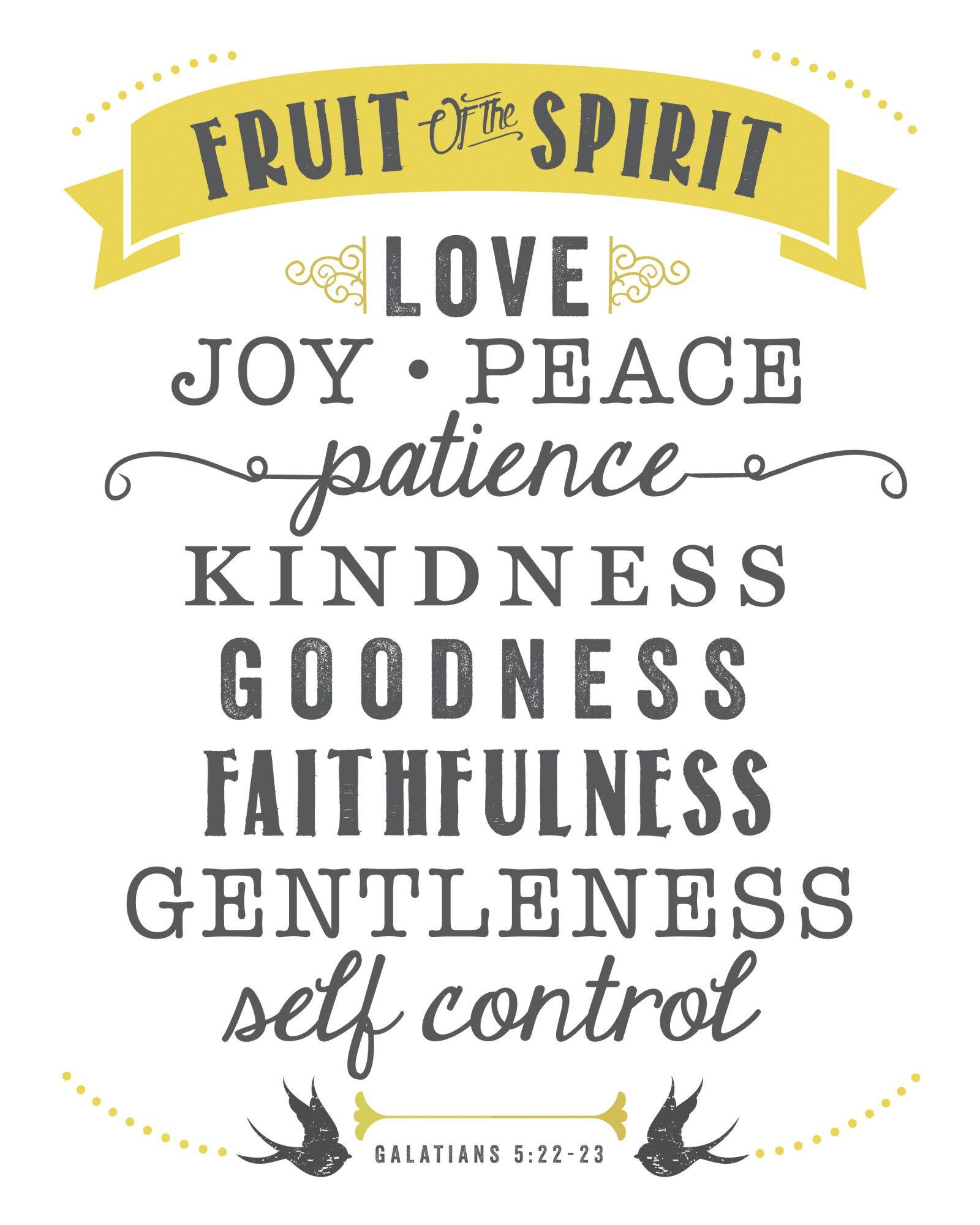 Free Printable Fruit Of The Spirit | Diy Ideas | Fruit Of The Spirit - Fruit Of The Spirit Free Printable