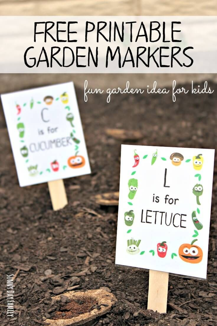 Free Printable Garden Markers Your Kids Will Love - Free Printable Plant Labels