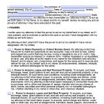 Free Printable General Power Of Attorney Forms   Free Printable Power Of Attorney Forms