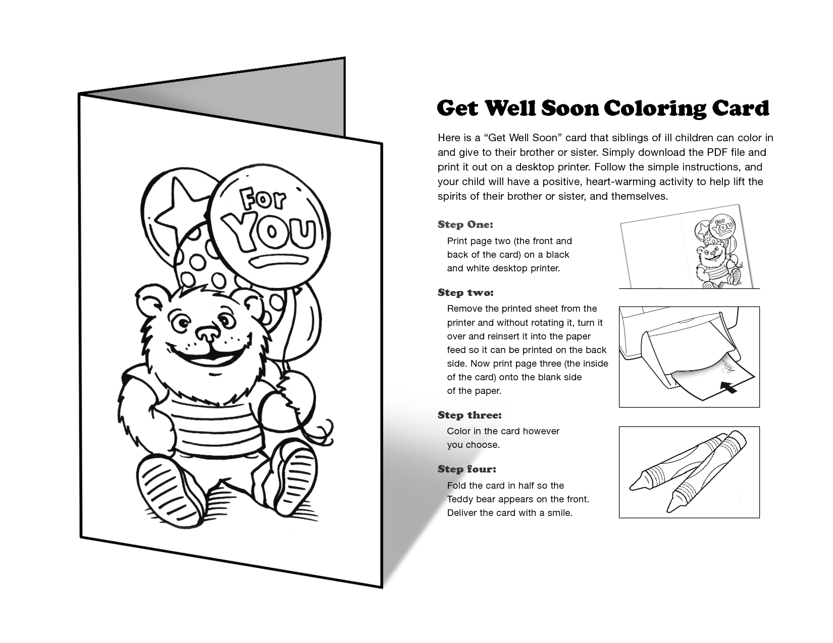 Free Printable Get Well Cards To Color - Printable Cards - Free Printable Cards To Color