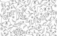 Free Printable Get Well Soon Cards 1 4 | Ncurjh – Free Printable Get Well Cards To Color
