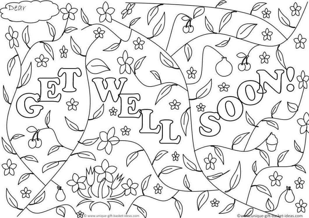 Free Printable Get Well Soon Cards 1 4   Ncurjh - Free Printable Get Well Cards To Color