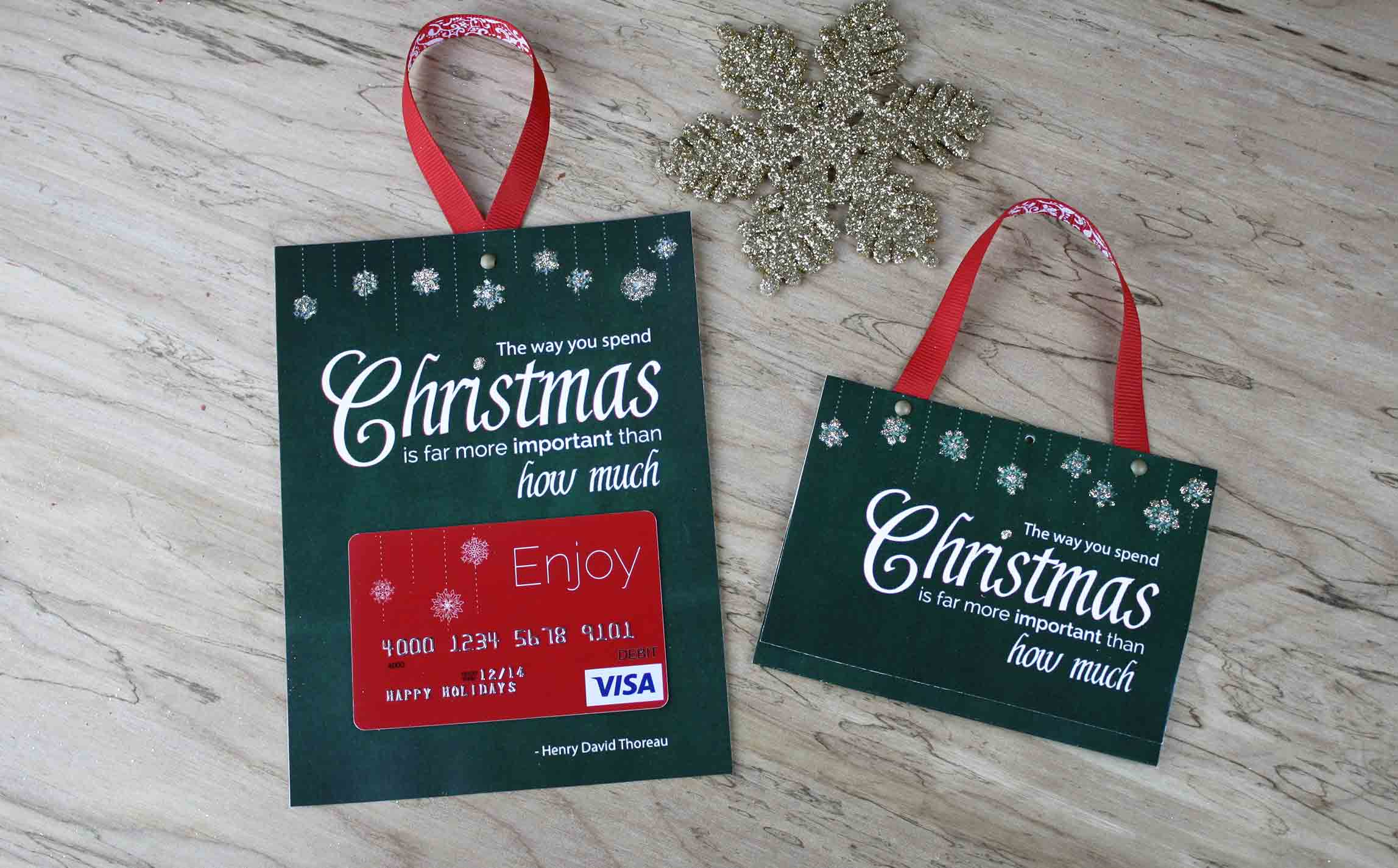 Free Printable| Gift Card Holder Spend Christmas - Free Printable Christmas Money Holders