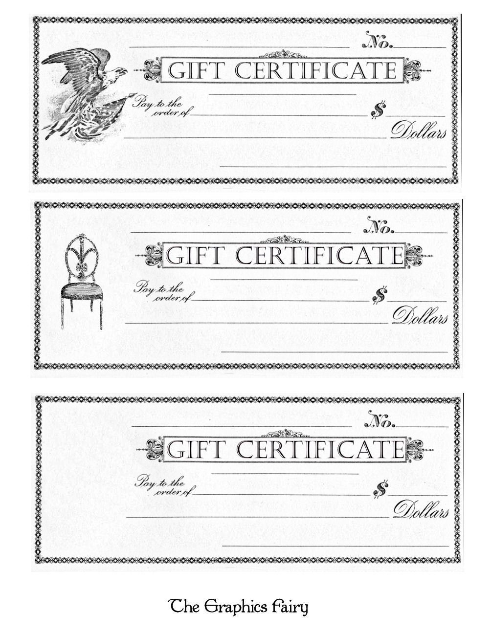 Free Printable - Gift Certificates | Craft Ideas | Pinterest | Free - Free Printable Gift Certificates