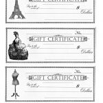 Free Printable   Gift Certificates   The Graphics Fairy   Free Printable Gift Certificates