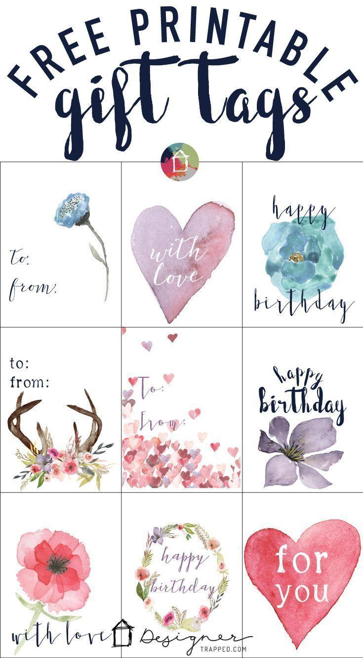 Free Printable Gift Tags For Birthdays   Printables   Gift Tags - Free Printable Gift Tags