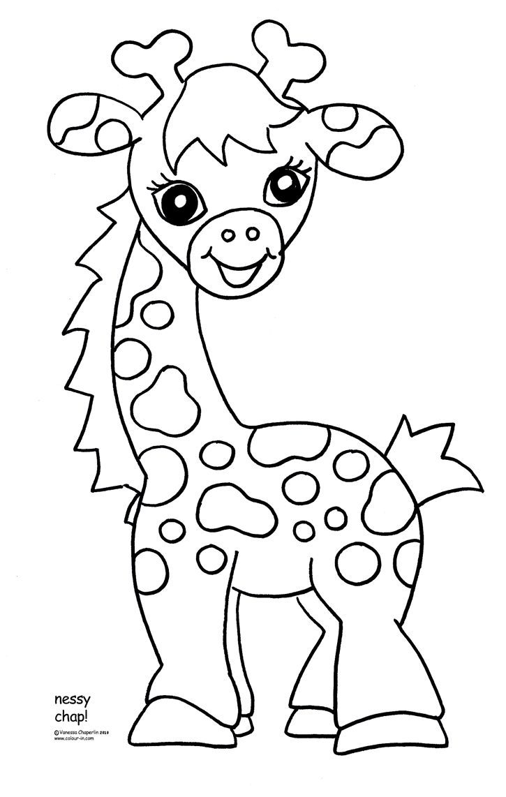Free Printable Giraffe Coloring Pages For Kids | Easy Art Ideas For - Free Printable Baby Shower Coloring Pages