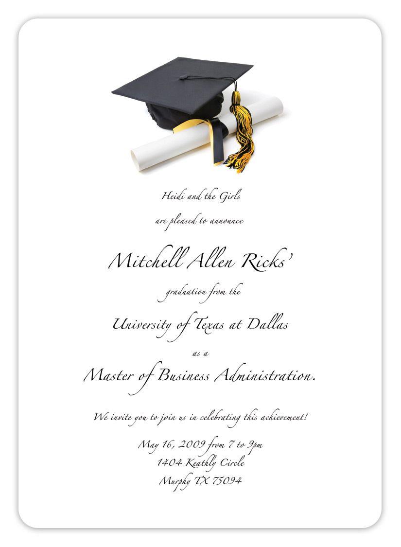 Free Printable Graduation Invitation Templates 2013 2017 | Places To - Free Printable Graduation Party Games