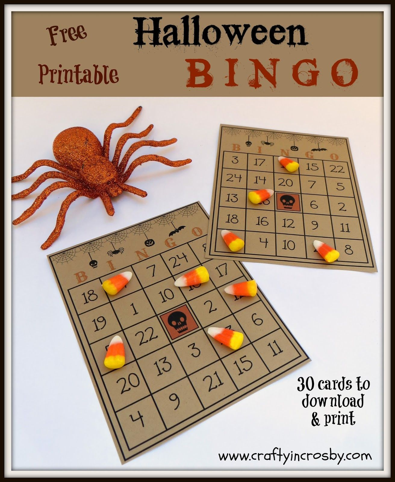 Free Printable Halloween Bingo Game With 30 Cards, Call Sheet And - Free Printable Bingo Cards And Call Sheet