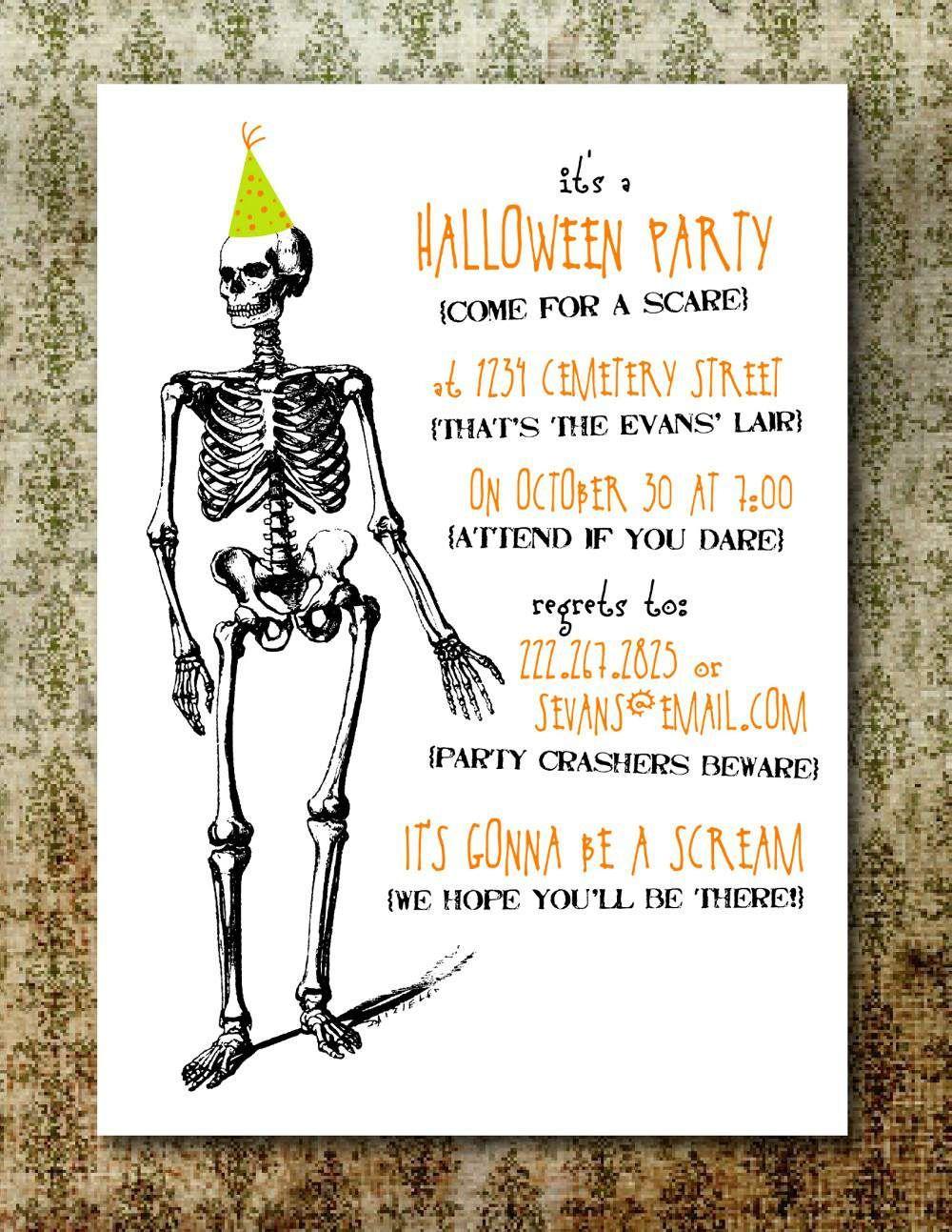 Free Printable Halloween Invitation Templates | Free Printable - Halloween Party Invitation Templates Free Printable
