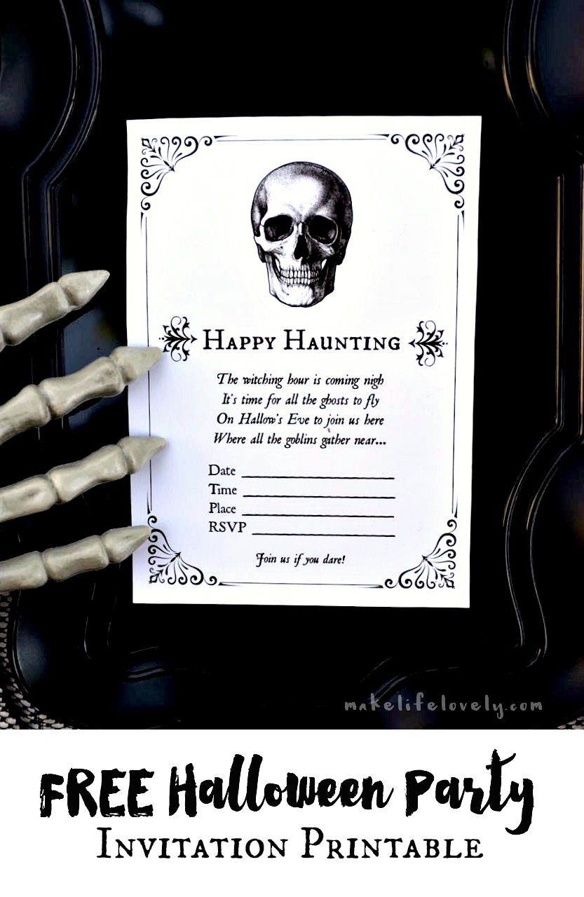 Free Printable Halloween Invitations For Your Spooky Soiree - Free Printable Halloween Invitations