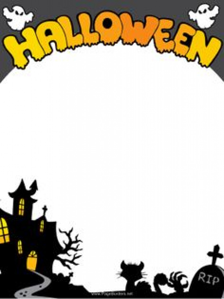 Free Printable Halloween Stationery Borders | Free Printable - Free Printable Halloween Stationery Borders