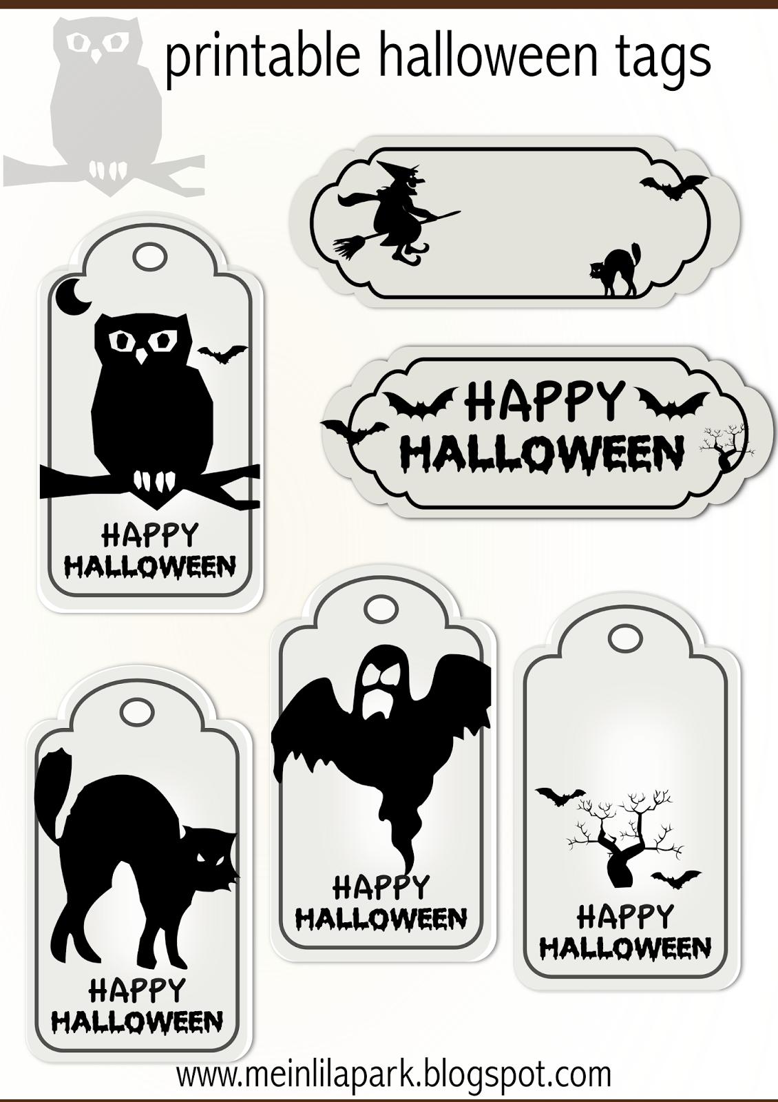 Free Printable Halloween Tags - Druckvorlage Halloween - Freebie - Free Printable Halloween Homework Pass