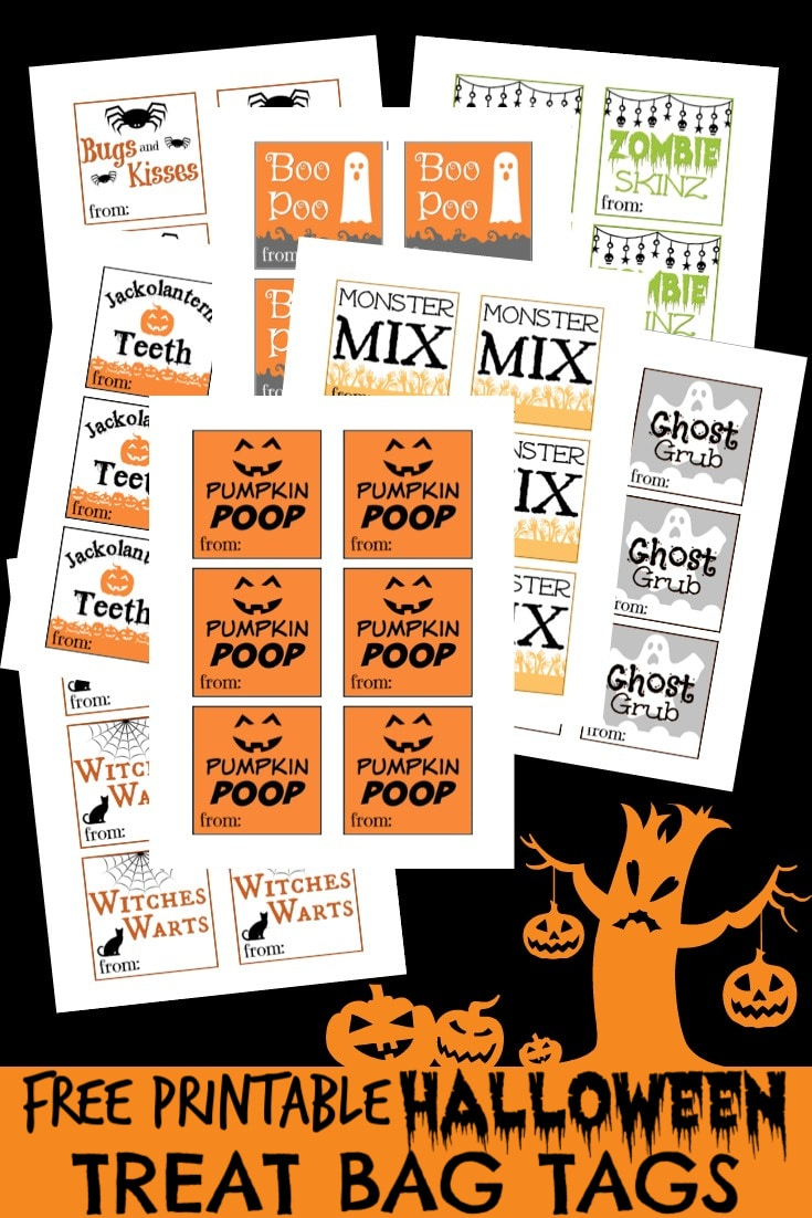 Free Printable Halloween Tags For Treat Bags - Free Printable Halloween Tags