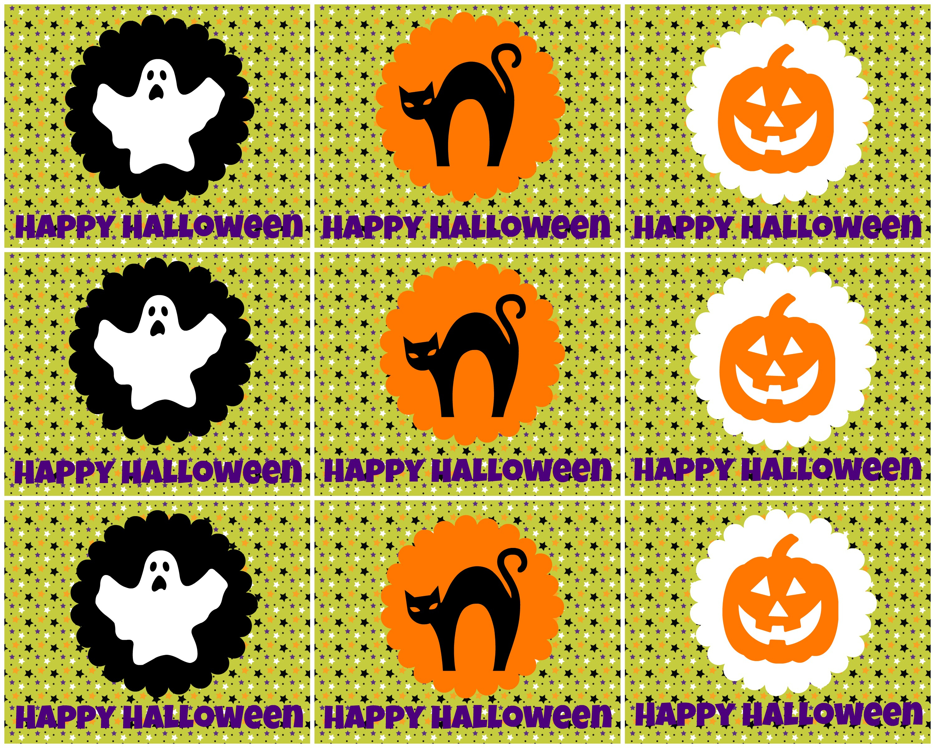 Free Printable Halloween Tags -- For Treat Bags, Labels, And More - Free Printable Halloween Labels