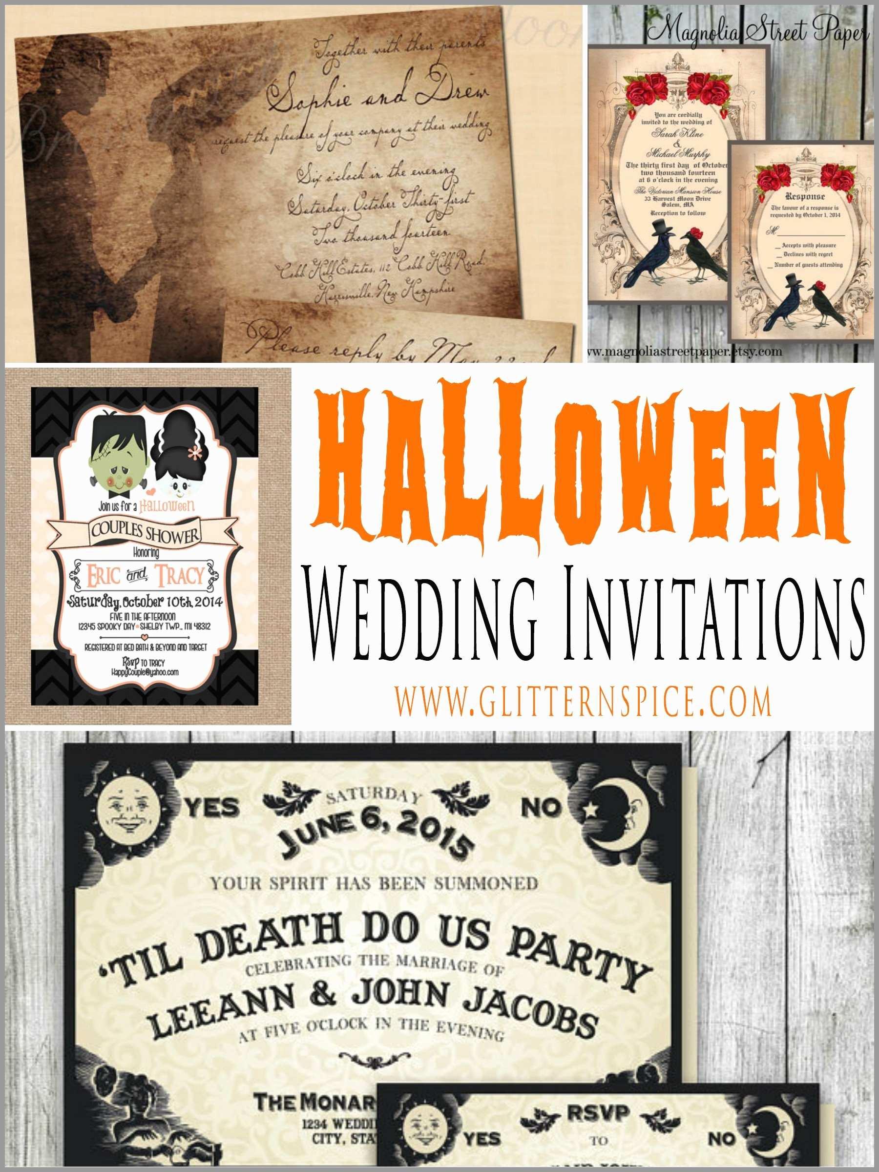 Free Printable Halloween Wedding Invitation Templates - Free Printable Halloween Wedding Invitations