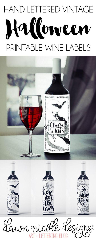 Free Printable Halloween Wine Bottle Labels | Ultimate Diy Board - Free Printable Wine Labels