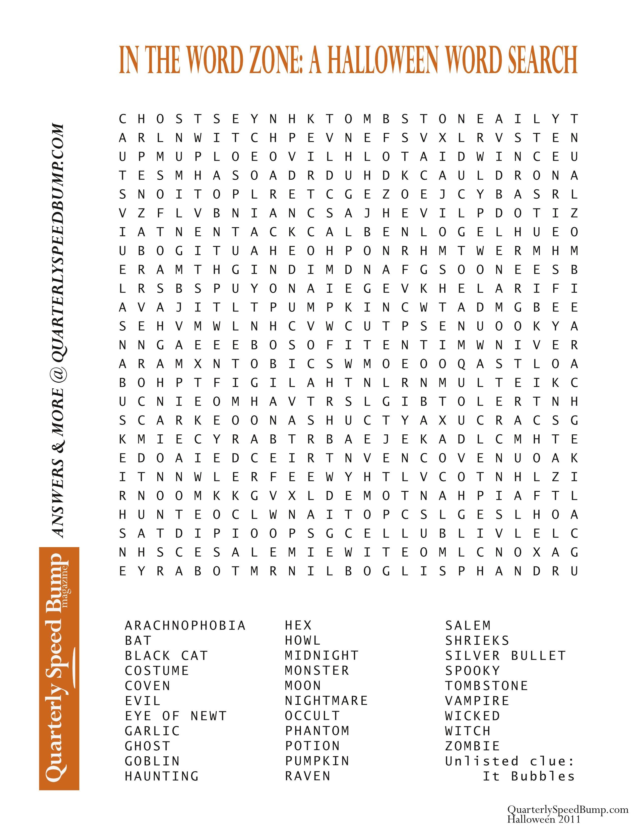 Free Printable Halloween Word Search Puzzles   Halloween Puzzle For - Free Word Search With Hidden Message Printable