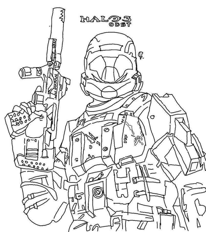 Free Printable Halo Coloring Pages For Kids | For Dylan | Coloring - Free Printable Halo Coloring Pages