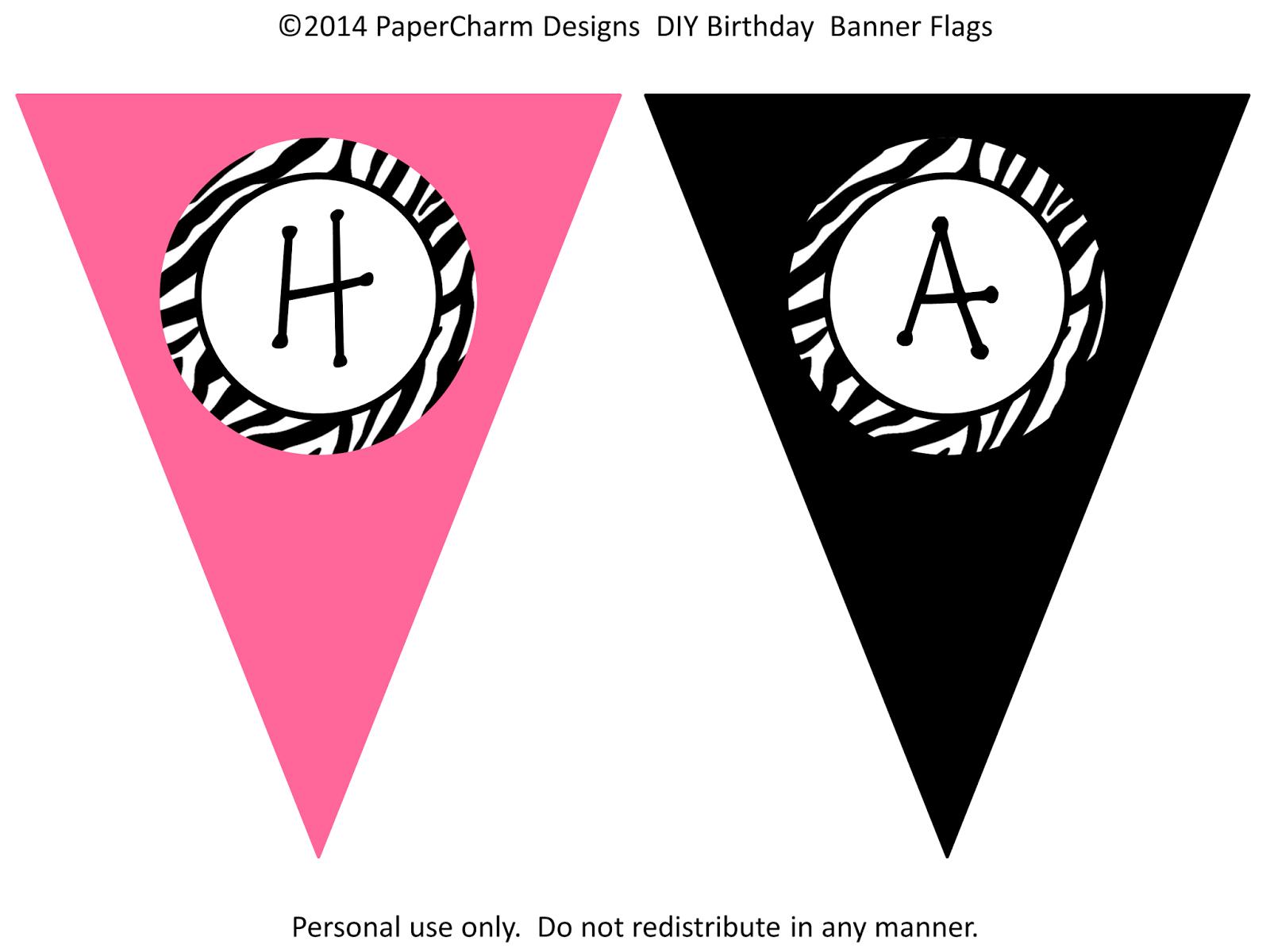 Free Printable Happy Birthday Banner Templates | Hunecompany - Free Printable Happy Birthday Banner Templates