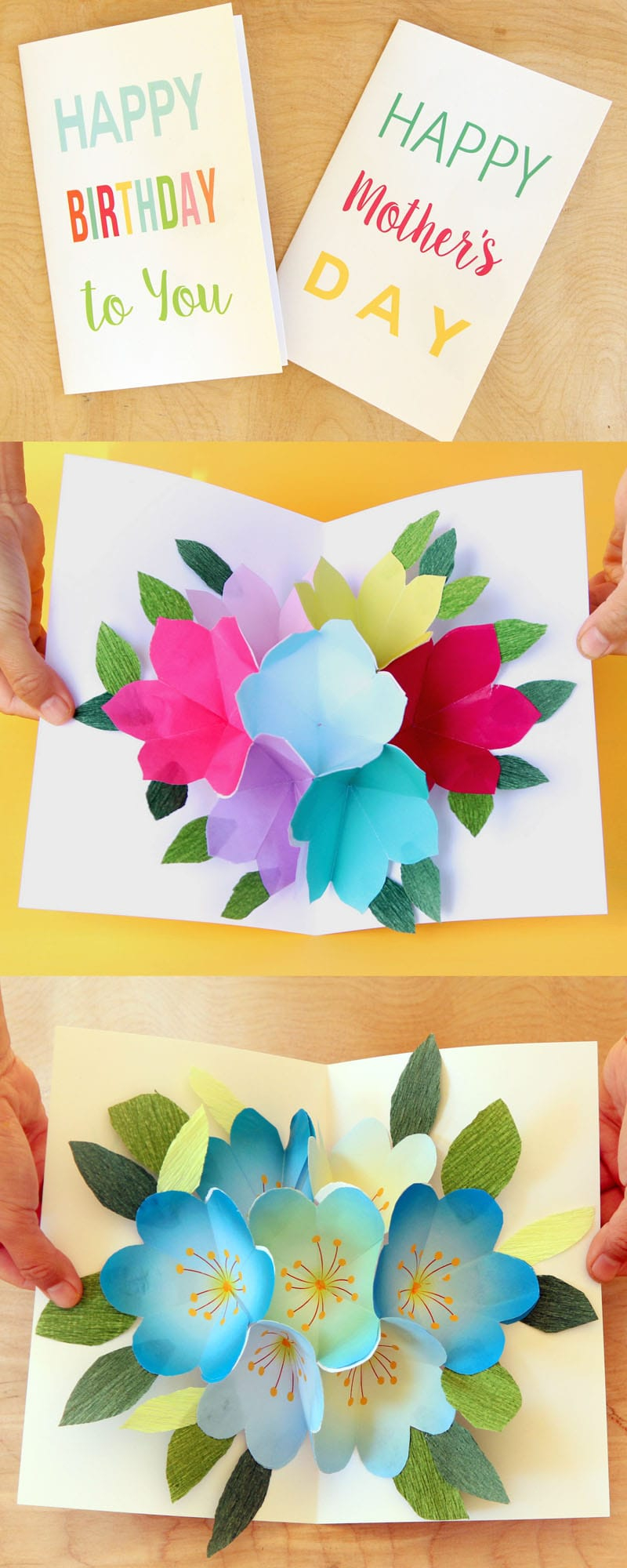 Free Printable Happy Birthday Card With Pop Up Bouquet - A Piece Of - Free Printable Birthday Cards For Your Best Friend