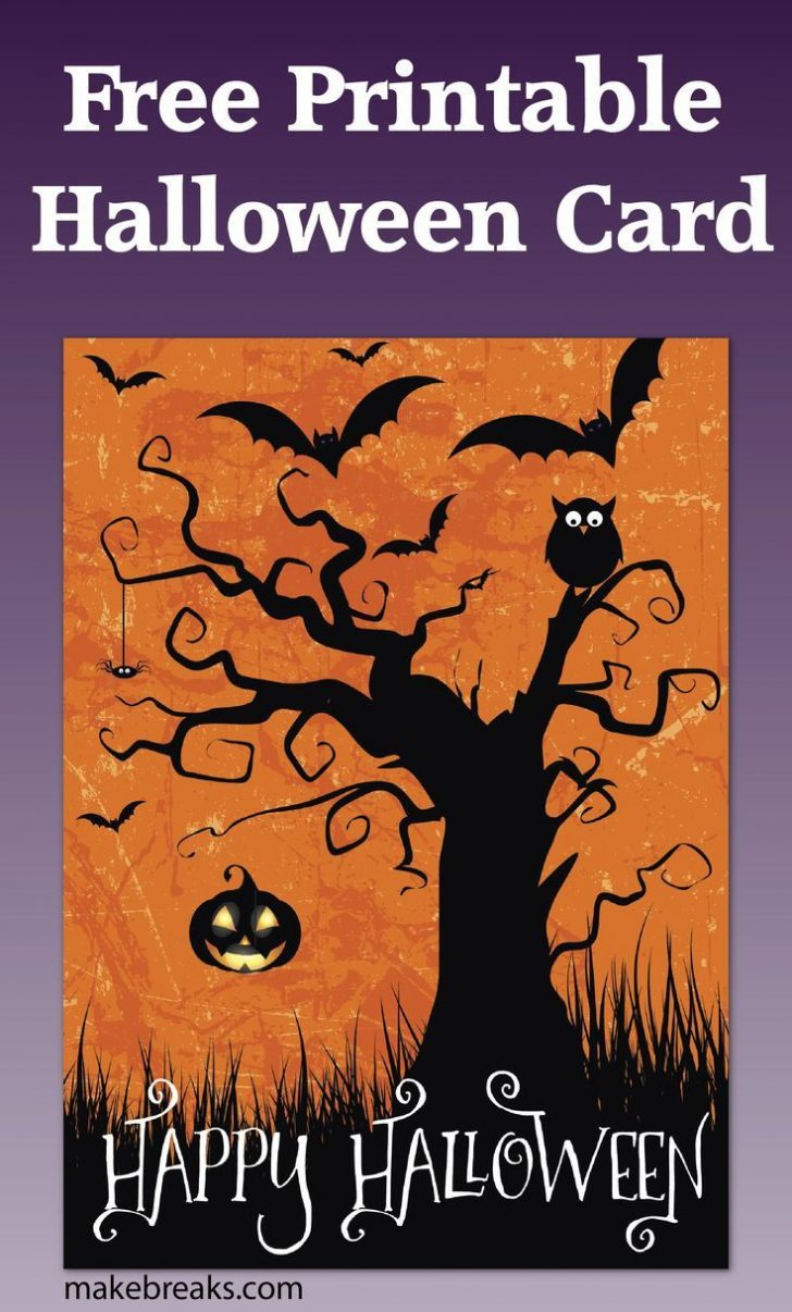 Printable Halloween Cards To Color For Free