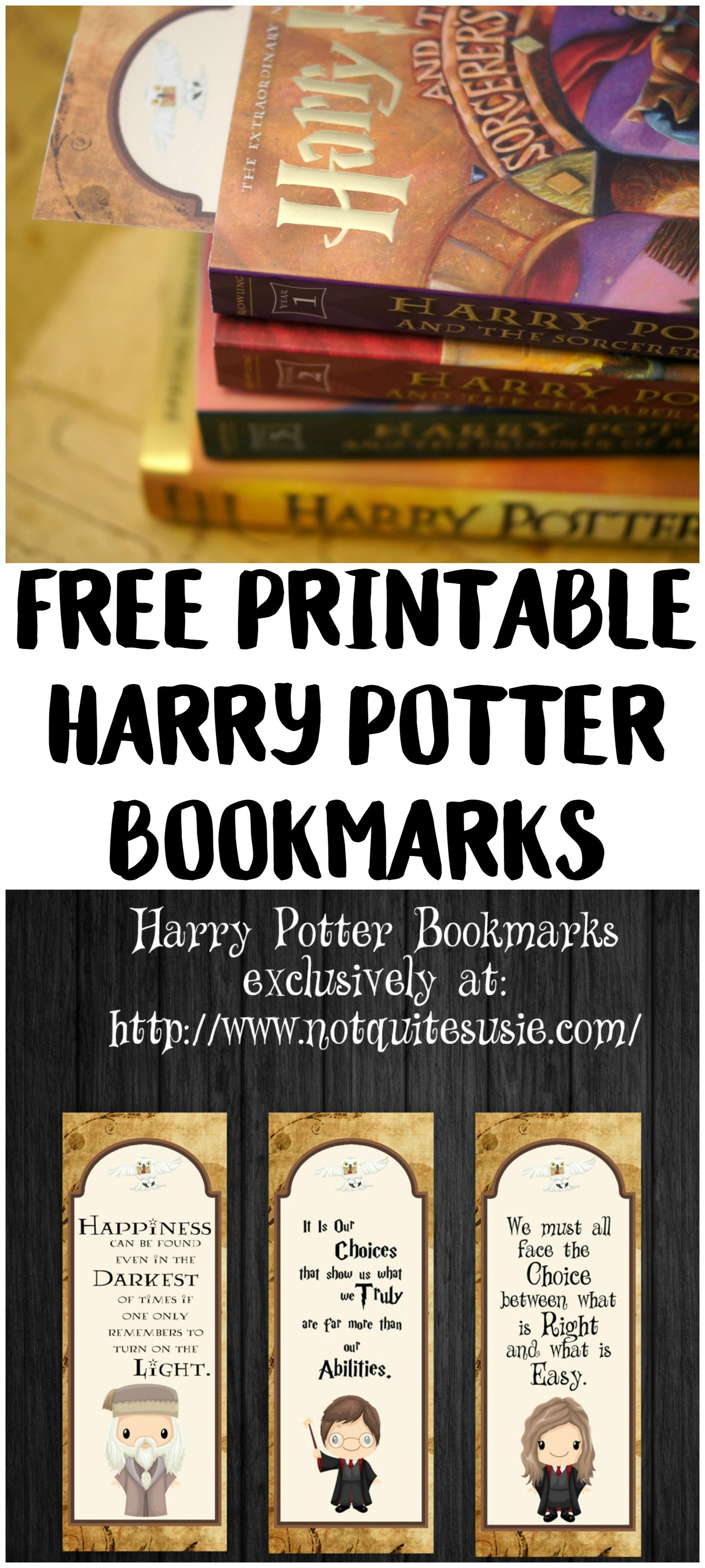 Free Printable Harry Potter Bookmarks | Geek Stuff | Pinterest - Free Printable Harry Potter Pictures