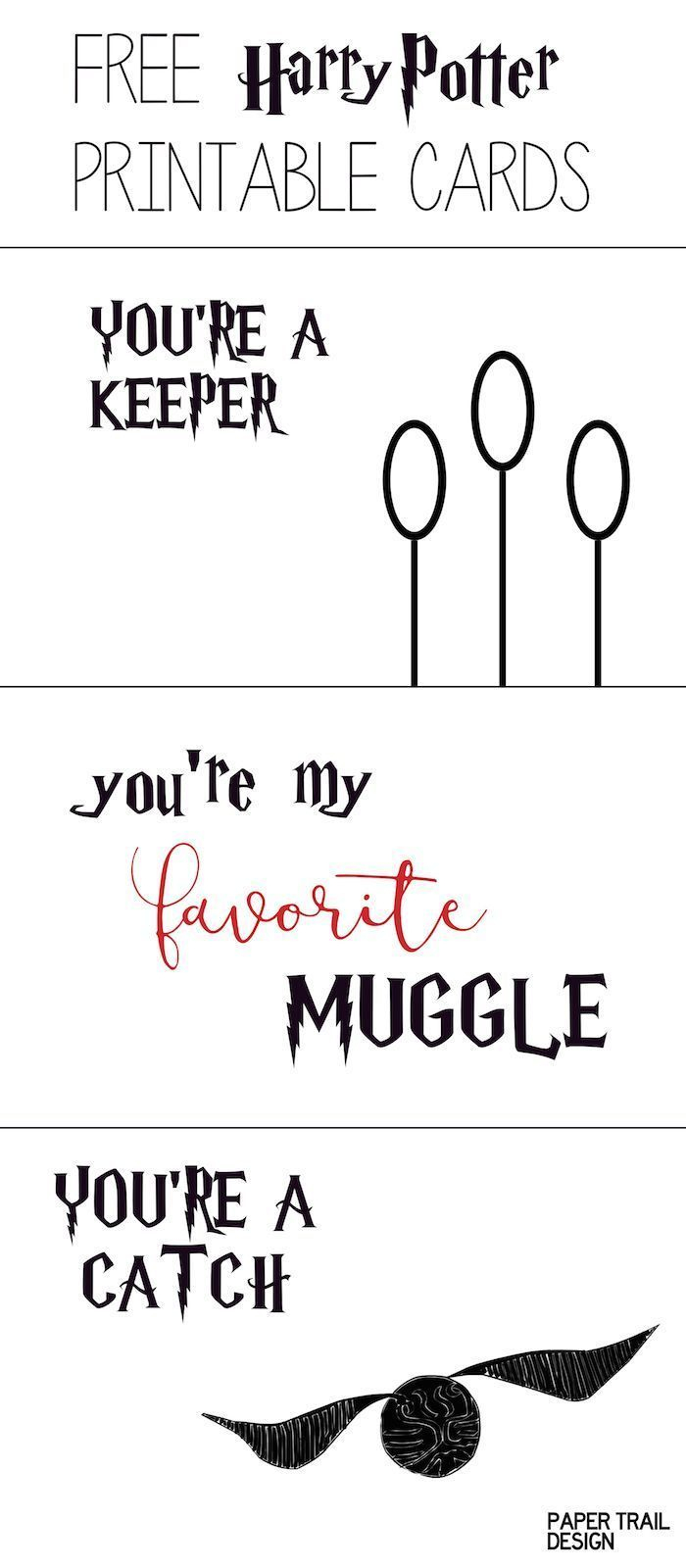 Free Printable: Harry Potter Cards   For Aiden   Pinterest   Harry - Free Printable Special Occasion Cards