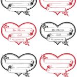 Free Printable Heart Labels   The Graphics Fairy   Free Printable Labels