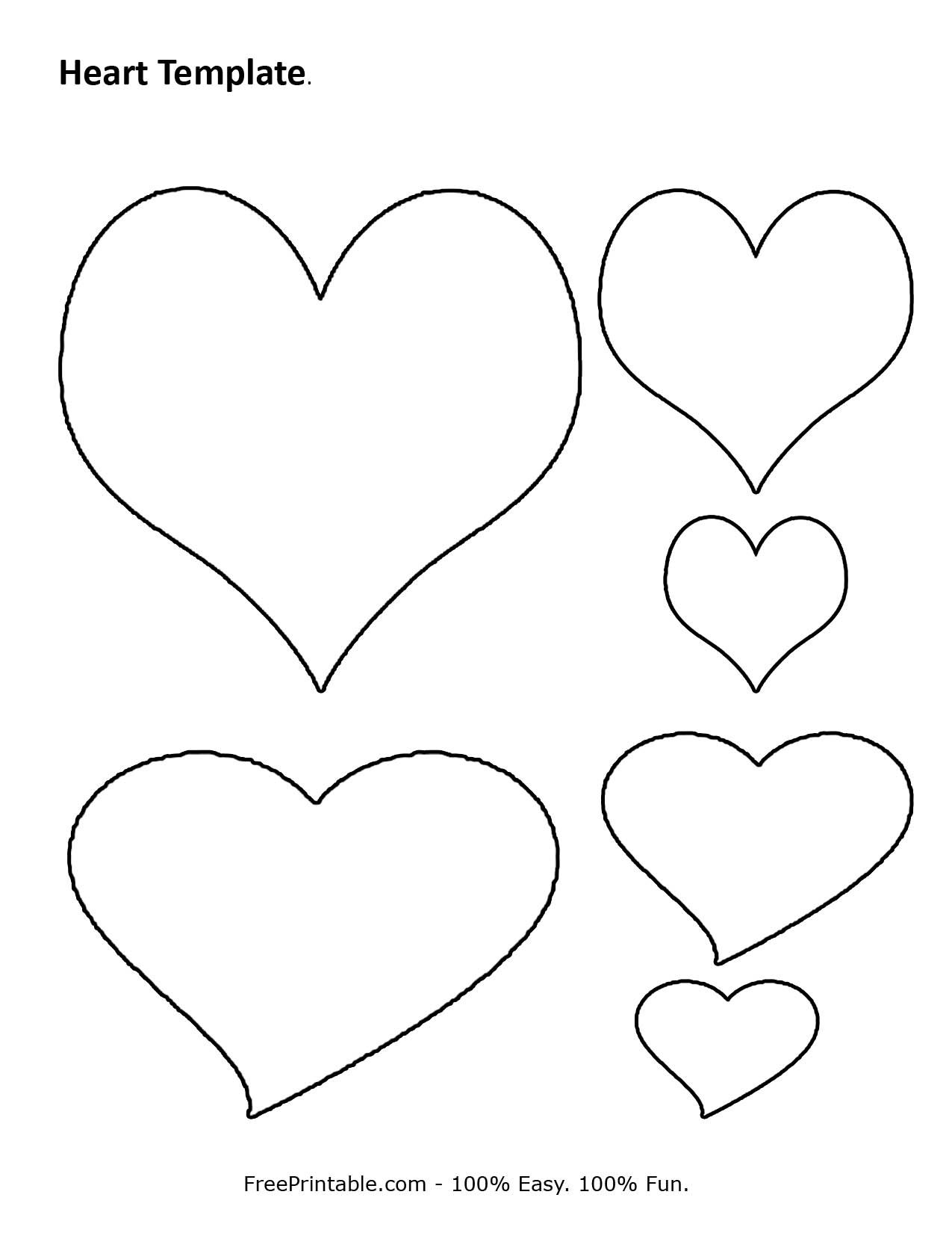 Free Printable Heart Template   Cupid Has A Heart On   Pinterest - Free Printable Heart Designs