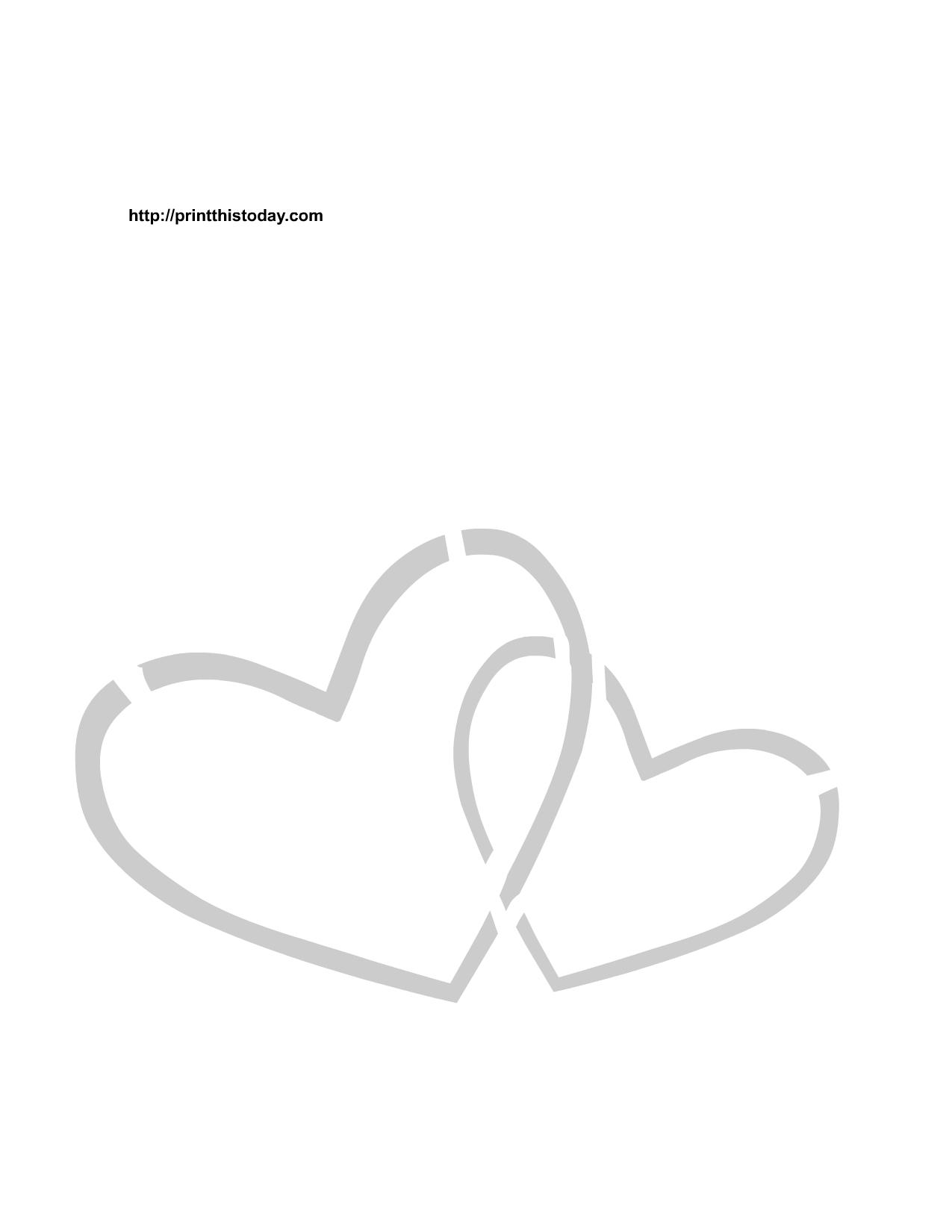 Free Printable Hearts Stencils - Free Printable Hearts
