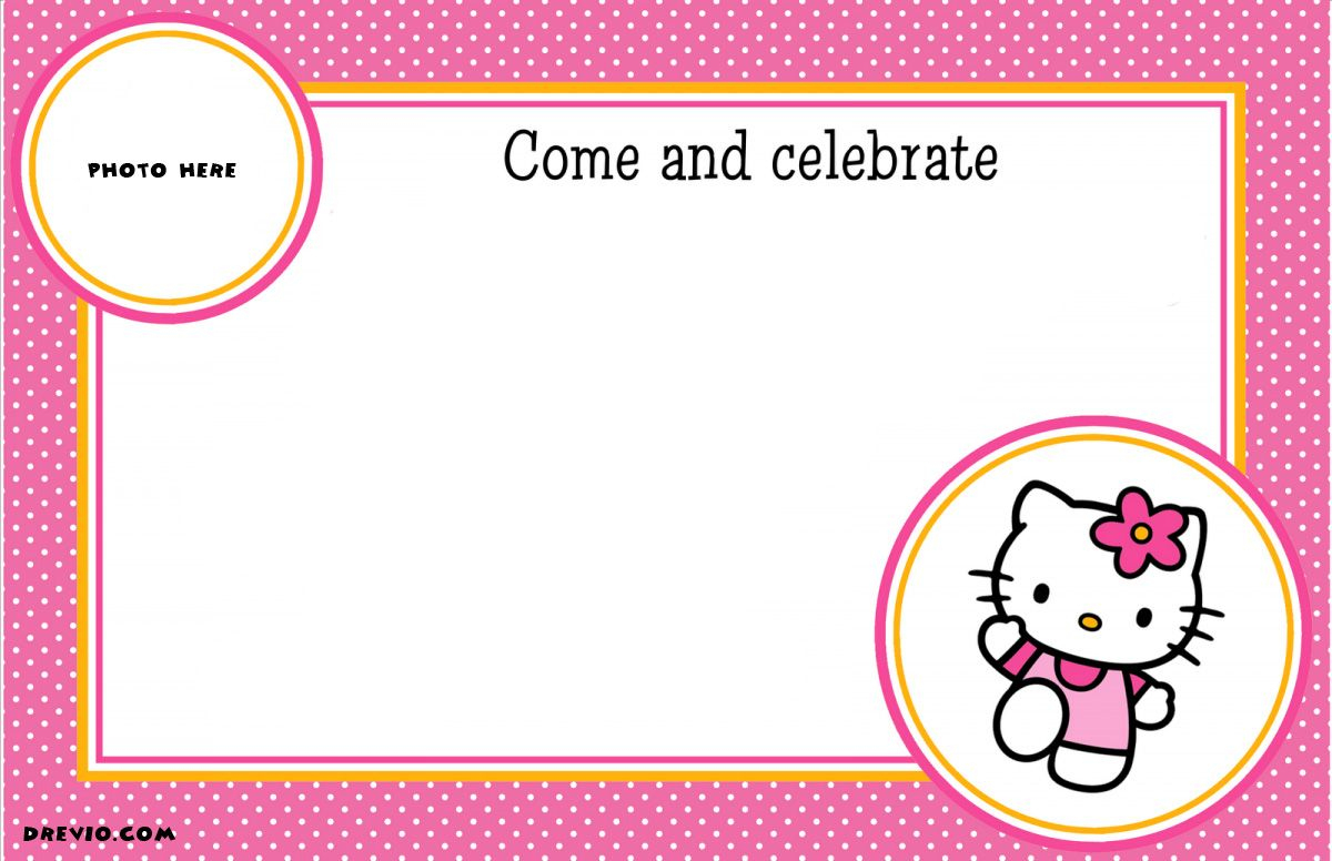 Free Printable Hello Kitty Birthday Party | Free Printable - Hello Kitty Free Printable Invitations For Birthday