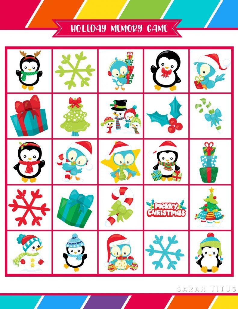 Free Printable Holiday Games That You Will Love | Christmas - Free Holiday Games Printable