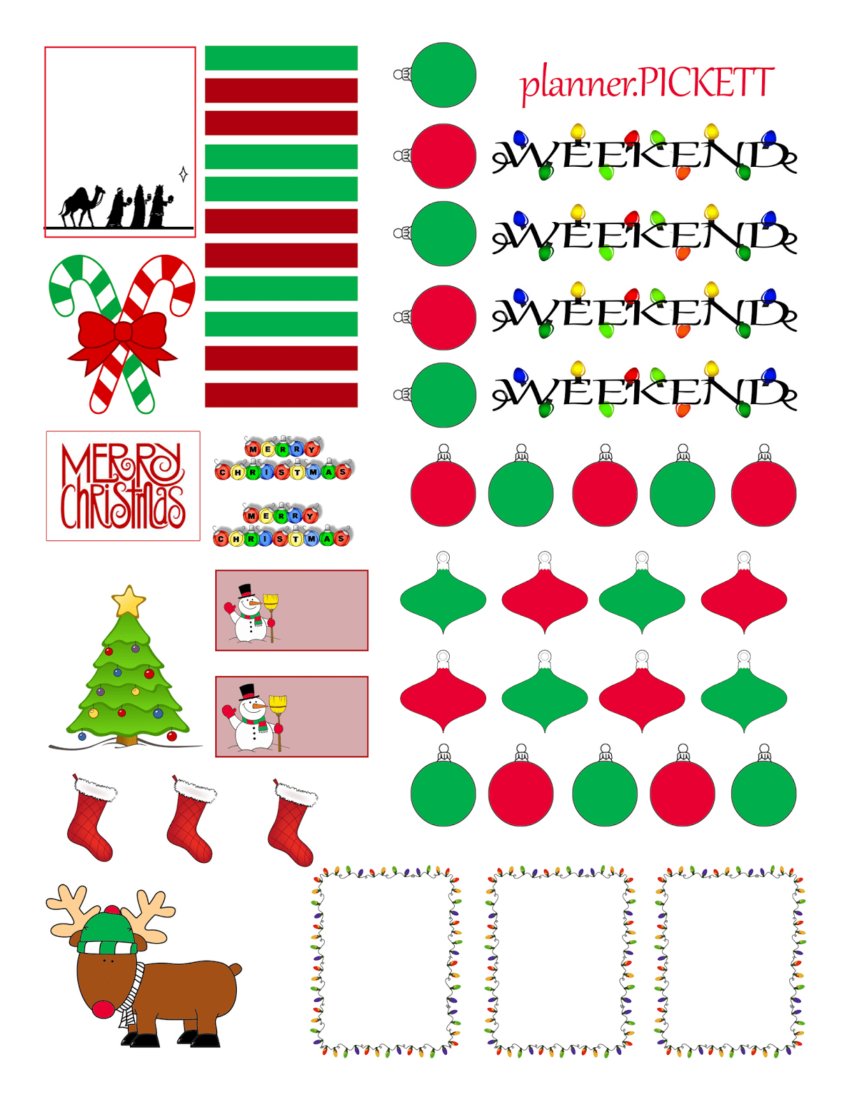 Free Printable Holiday Stickers – Forprint - Free Printable Holiday Stickers