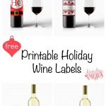 Free Printable Holiday Wine Labels | Printables | Pinterest | Wine   Free Printable Wine Labels With Photo