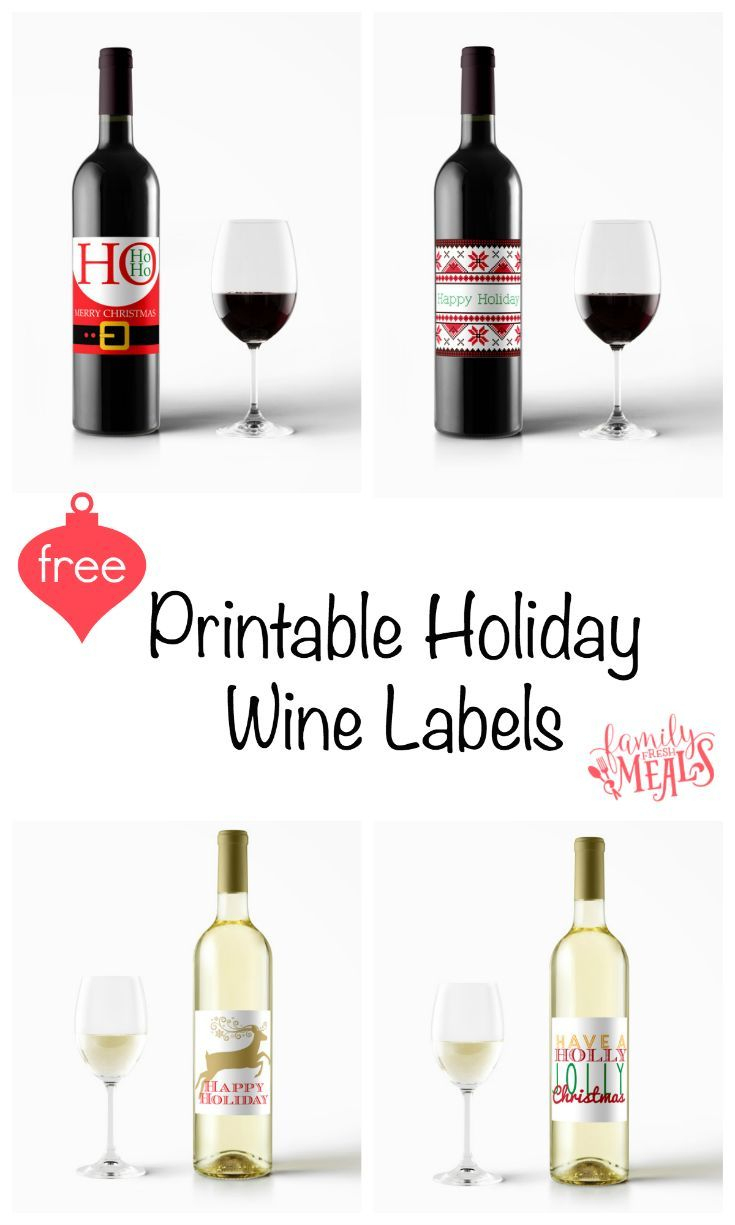 Free Printable Holiday Wine Labels | Printables | Pinterest | Wine - Free Printable Wine Labels With Photo